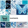 Social Butterfly 10 Inch Squares by Benartex
