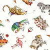 Riley Blake Hungry Animal Alphabet Animal Toss Off White