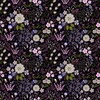 In The Beginning Fabrics Garden Delights III Floral Medley Purple