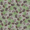 Henry Glass Snowy Woods Pinecones Green/Brown