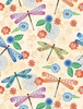 Wilmington Prints Floral Flight Dragonfly Cream