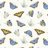 Henry Glass My Sunflower Garden Tossed Butterflies White/Multi