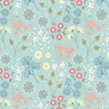 Lewis and Irene Fabrics From Old Harry Rocks Floral Teal