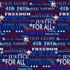 Henry Glass Land That I Love Patriotic Text Navy