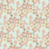 Camelot Fabrics Berry Blossoms Packed Blossoms Aqua