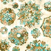 Quilting Treasures Kashmir Mandalas Cream