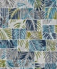 Maywood Studio Turtle Bay Transparent Palms Blue/Green