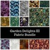 Garden Delights III One Yard Bundle by In The Beginning Fabrics