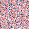 Andover Fabrics Top Drawer Roses Blue