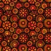 In The Beginning Fabrics Unusual Garden II Blooms Black/Orange