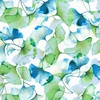 Hoffman Fabrics Graceful Garden Floral Spearmint/Gold