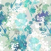 In the Beginning Fabrics Garden of Dreams Sprigs Teal Glow