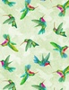 Wilmington Prints Humming Along Hummingbirds Green