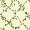 Clothworks Garden Party Strawberry Vines Light Olive