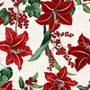 Hoffman Fabrics Winter Blooms Lily Natural
