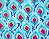 Quilting Treasures Delilah Feathers Turquoise