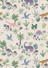 Lewis and Irene Fabrics Kimmeridge Bay Land Dinos Natural