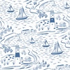 Lewis and Irene Fabrics From Old Harry Rocks Nautical White