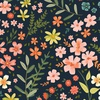 Clothworks Garden Notes Meadow Navy
