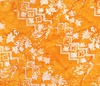 Northcott Banyan Batiks Intaglio (Marigold Gray) Orange Slice
