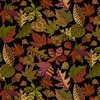 Henry Glass Autumn Is Calling Patterned Leaves Black