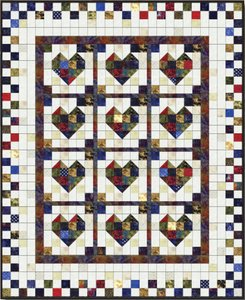 Scrappy Heart Quilt Pattern