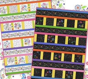 """Whimsy Row by Row"" Free Row of the Month Pattern designed by Grace Wilson from Bear Creek Quilting Company"