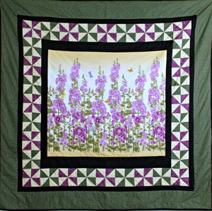 Field of Hollyhocks by Bear Creek Quilting Company