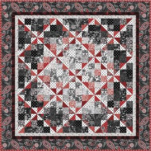 Black White and Currant Quilt Pattern by Henry Glass Fabrics