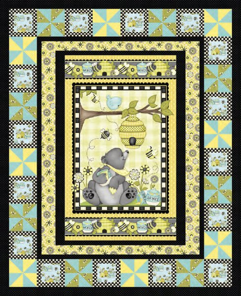 Honey Bee Mine Quilt Pattern by Henry Glass Fabrics