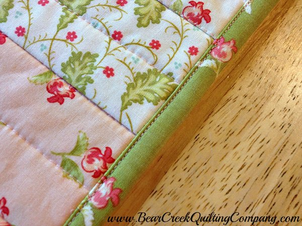 Honeysweet Table Topper binding