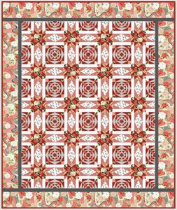 Exotic Garden Crimson Blooms by Kona Bay Fabrics