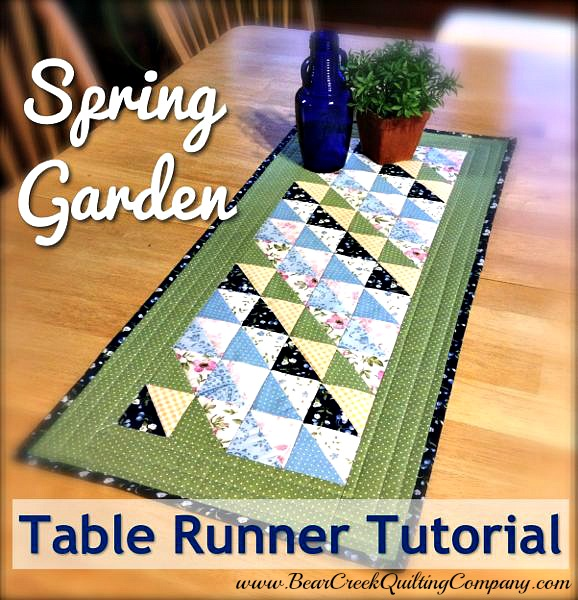 Spring Garden Table Runner Tutorial