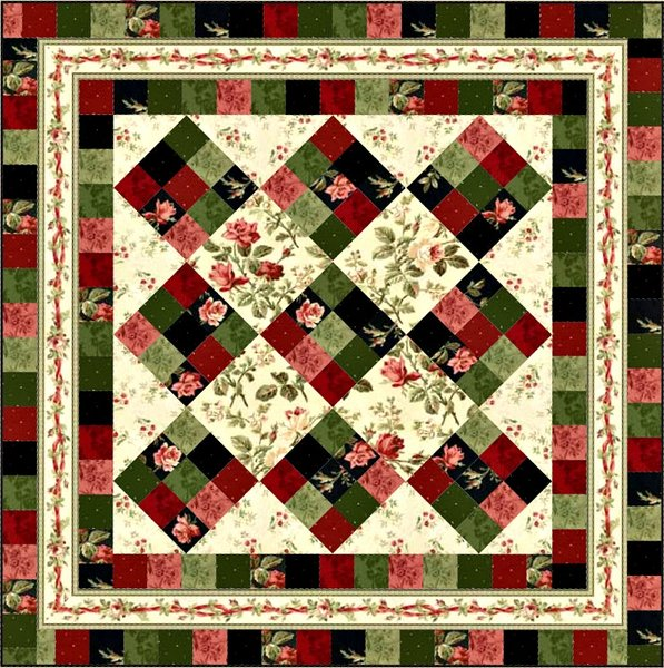 Rosey Ribbons Quilt Pattern by Maywood Studio