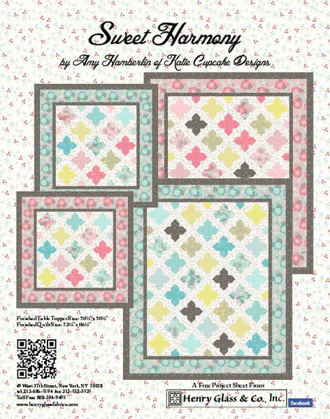 Sweet Harmony Quilt Pattern by Henry Glass Fabrics