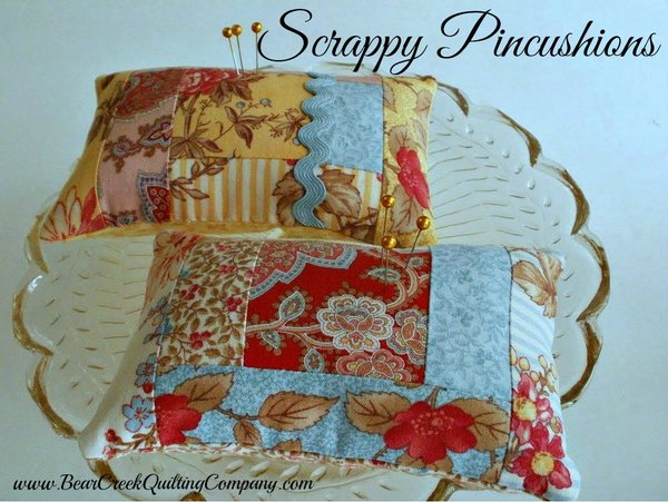 Scrappy Pincushion Tutorial