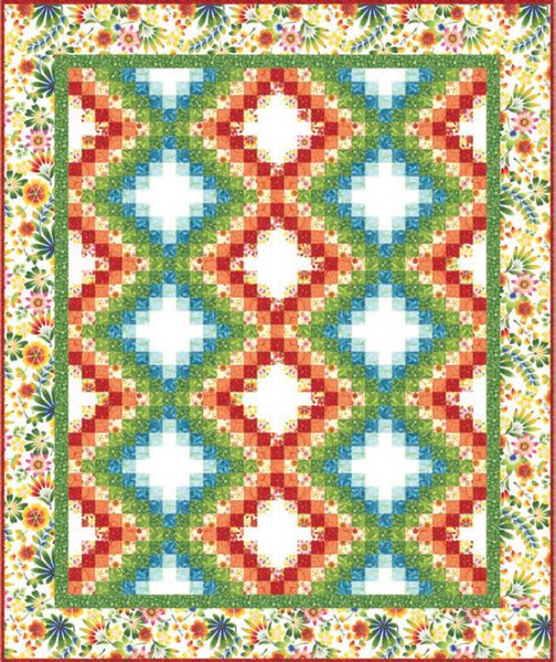 Happy Garden Quilt Pattern by Kona Bay Fabrics