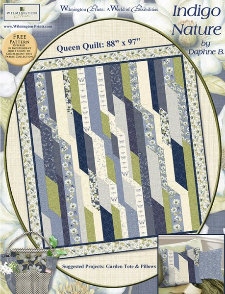 Indigo Nature Quilt Pattern by Wilmington Prints