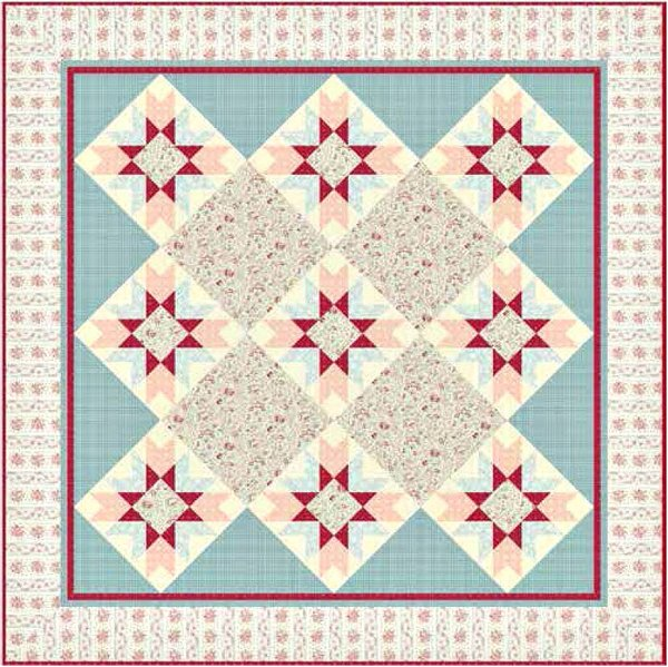 English Diary Quilt Pattern by Andover