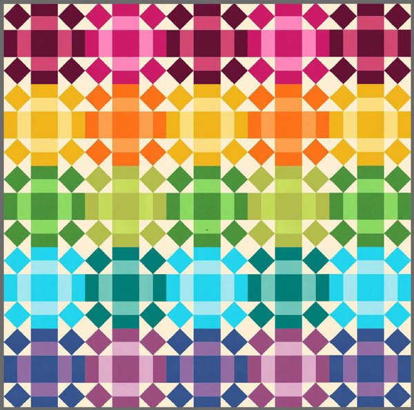 Rolling Rainbow Free Quilt Pattern by Robert Kaufman Fabrics
