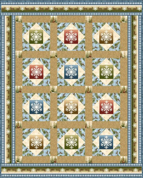 Snowflake Wonder Free Quilt Pattern by Maywood Studio