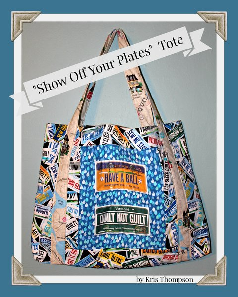 Show Off Your Plates Tote Tutorial