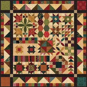 Simple Whatnots Sampler Quilt by Kim Diehl for Henry Glass & Inc.